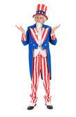 USA: Uncle Sam Shrugging or Unsure — Stock Photo