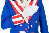 USA: Uncle Sam Doing Pledge Of Allegiance — Stock Photo