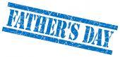 Sello grunge de padres día azul aislado sobre fondo blanco — Foto de Stock