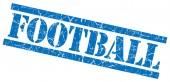 Fútbol azul sello grunge aislado sobre fondo blanco — Foto de Stock