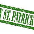 Happy st patricks day green grungy stamp on white background — Stock Photo #54301147