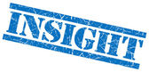 Insight blue grungy stamp on white background — Stock Photo