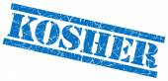 Kosher blue grungy stamp on white background — Stock Photo