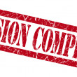 Mission complete red grungy stamp on white background — Stock Photo #54357023
