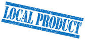 Local product blue grungy stamp on white background — Stock Photo