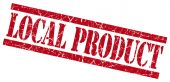 Local product red grungy stamp on white background — Stock Photo