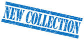 New collection blue grungy stamp on white background — Stock Photo