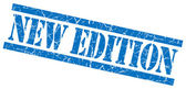 New edition blue grungy stamp on white background — Stock Photo