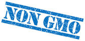 Non gmo blue grungy stamp on white background — Stock Photo