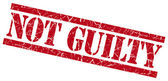 Not guilty red grungy stamp on white background — Stock Photo