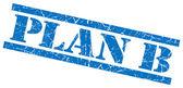 Plan b blue grunge stamp isolated on white — Zdjęcie stockowe