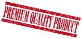 Selo grunge vermelho produto de qualidade premium isolado no branco — Fotografia Stock