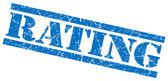 Rating blue grunge stamp isolated on white — Stock Photo