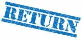 Return blue grunge stamp isolated on white — Stock Photo
