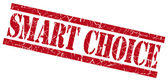 Smart choice red square grunge textured isolated stamp — Stock Photo