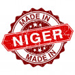 Made in Niger red stamp isolated on white background — Stock Vector #58299203