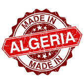 Made in Algeria red stamp isolated on white background — Vector de stock