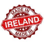 Made in Ireland red stamp isolated on white background — Cтоковый вектор