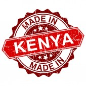 Made in Kenya red stamp isolated on white background — Vetorial Stock