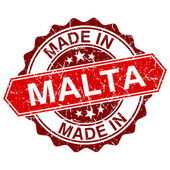 Made in Malta red stamp isolated on white background — Stock vektor