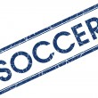 Soccer blue square stamp isolated on white background — Stock Photo #58956593
