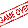 Game over red square stamp isolated on white background — Stock Photo #59592451