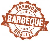 Barbeque brown vintage isolated seal — Stock Photo