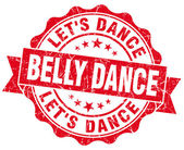 Belly dance red vintage isolated seal — Stock Photo
