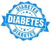 Diabetes blue grunge seal isolated on white — Stockfoto