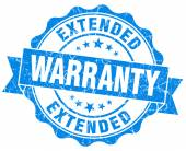Extended warranty blue grunge seal isolated on white — Stock Photo