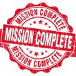 Mission complete red grunge seal isolated on white — Stock Photo #63487393