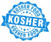 Kosher blue grunge seal isolated on white — Stock Photo