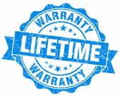 Lifetime warranty blue grunge seal isolated on white — Stock Photo