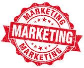 Marketingový červené grunge pečeť izolované na bílém — Stock fotografie