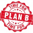 Time for plan b red grunge seal isolated on white — Photo #63572109