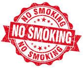 No smoking red grunge seal isolated on white — Stockfoto