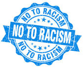 No to racism blue grunge seal isolated on white — Foto de Stock