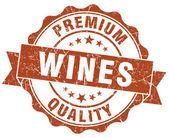 Wijnen grunge zegel geïsoleerd op wit bruin — Stockfoto