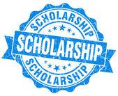 Scholarship blue grunge seal isolated on white — Stock Photo