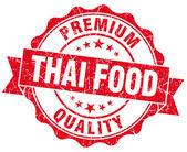 Sello de grunge de comida tailandesa roja aislado en blanco — Foto de Stock