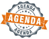 Agenda orange vintage seal isolated on white — Стоковое фото
