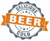 Beer orange vintage seal isolated on white — Стоковое фото