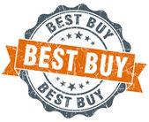 Best buy orange vintage seal isolated on white — Стоковое фото