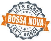 Bossa nova orange vintage seal isolated on white — Стоковое фото