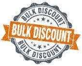 Bulk discount orange vintage seal isolated on white — Стоковое фото