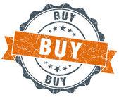 Buy orange vintage seal isolated on white — Стоковое фото