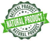Sello de vintage de natural producto verde aislado en blanco — Foto de Stock