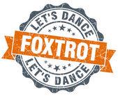 Foxtrot orange vintage seal isolated on white — Stock Photo