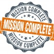 Mission complete vintage orange seal isolated on white — Stock Photo #64436813