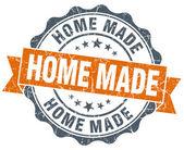 Home made vintage orange seal isolated on white — ストック写真